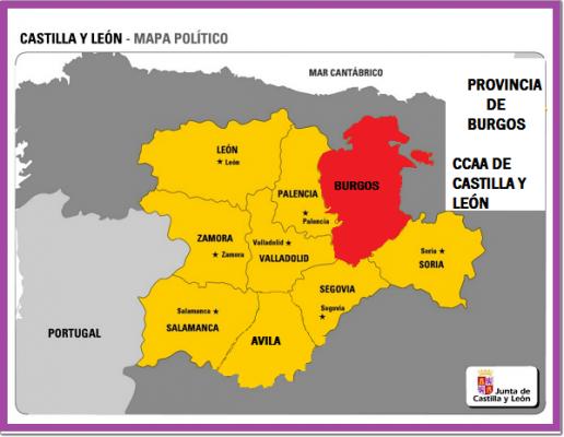 Mapa De España Burgos.Conociendo Hispania Ccaa Castilla Y Leon Provincia De